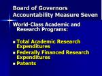 board of governors accountability measure seven