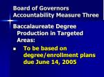 board of governors accountability measure three