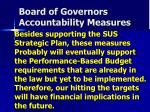 board of governors accountability measures1