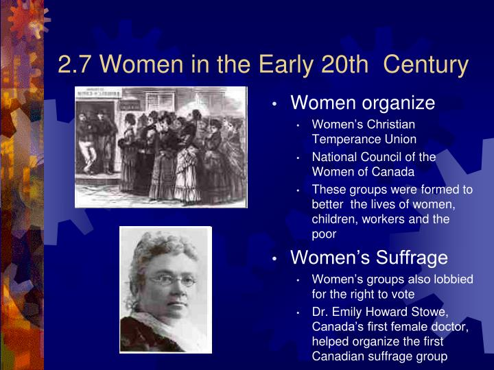2.7 Women in the Early 20th  Century