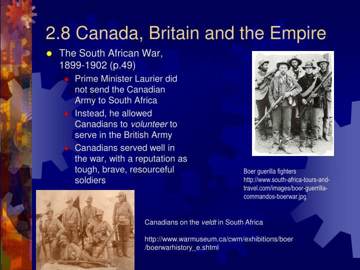 2.8 Canada, Britain and the Empire