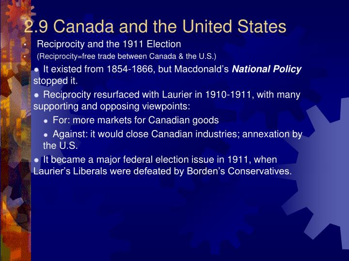 2.9 Canada and the United States