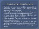 glaciation glacial deposit