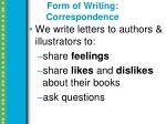 form of writing correspondence