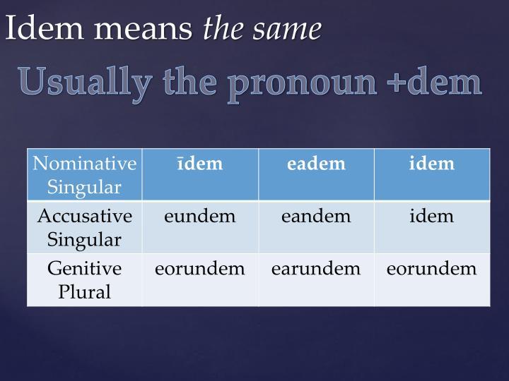 Usually the pronoun +