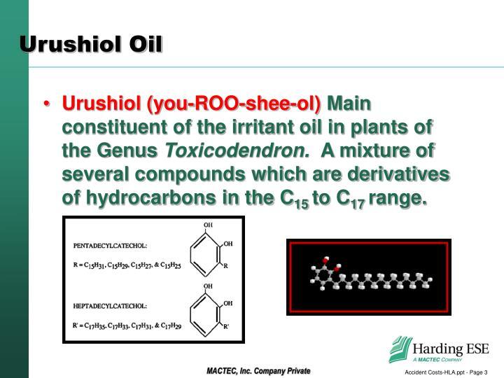 Urushiol oil