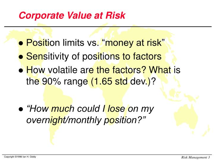 Corporate value at risk