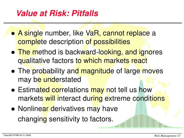 Value at Risk: Pitfalls