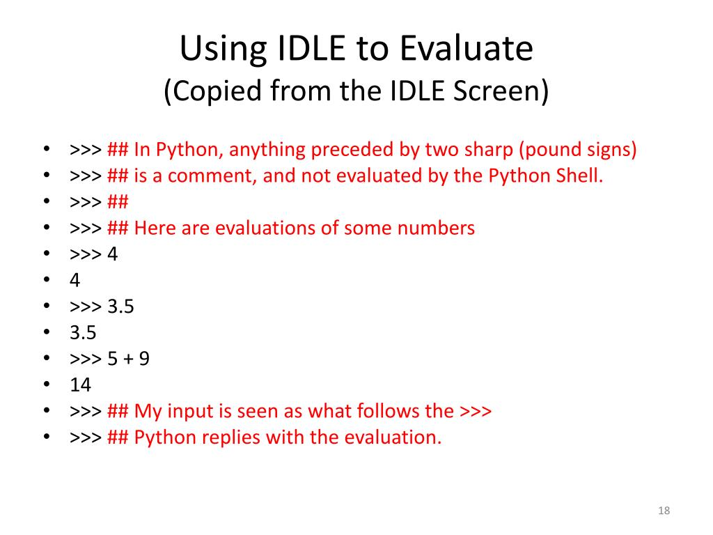 PPT - Introduction to Python and IDLE (the IDE for Python