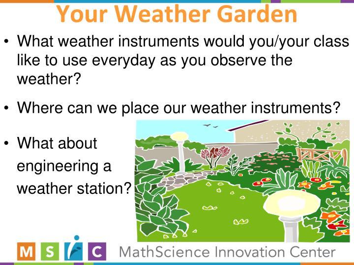 Your Weather Garden
