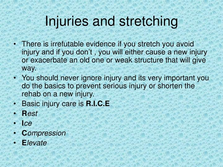 Injuries and stretching