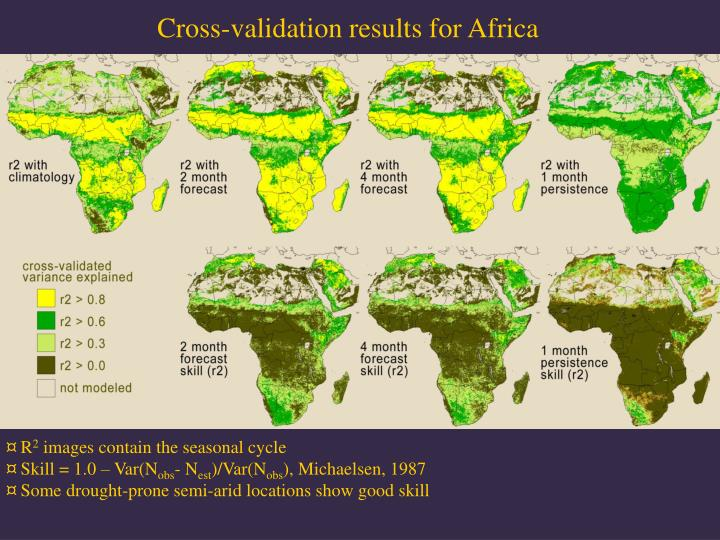 Cross-validation results for Africa