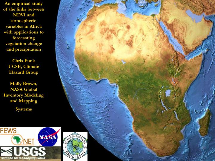 An empirical study of the links between NDVI and atmospheric variables in Africa with applications t...