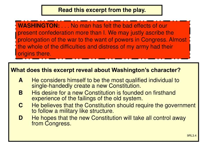 Read this excerpt from the play.