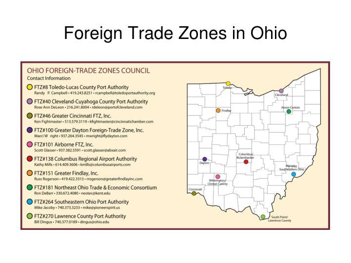 Foreign Trade Zones in Ohio