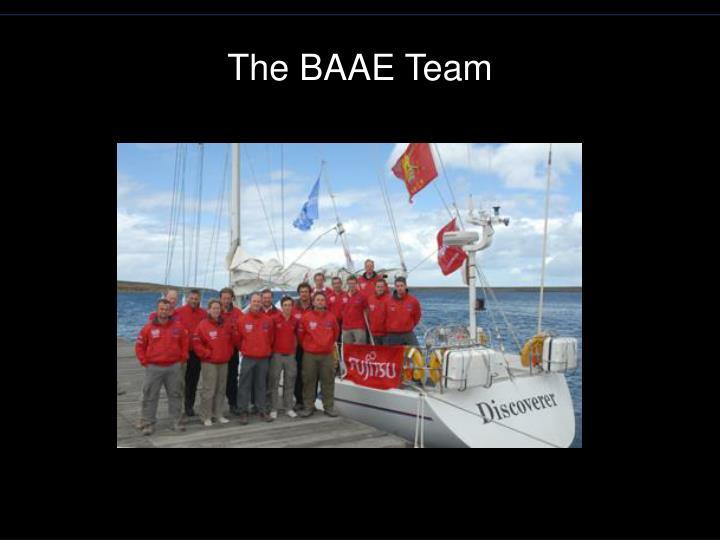 The baae team
