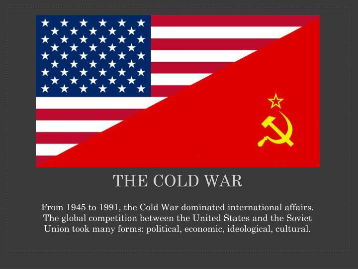 globalization and the post cold war order Brings together developments on security, economy, globalization, and rights to cover every aspect of the post-cold war order share: also of interest.