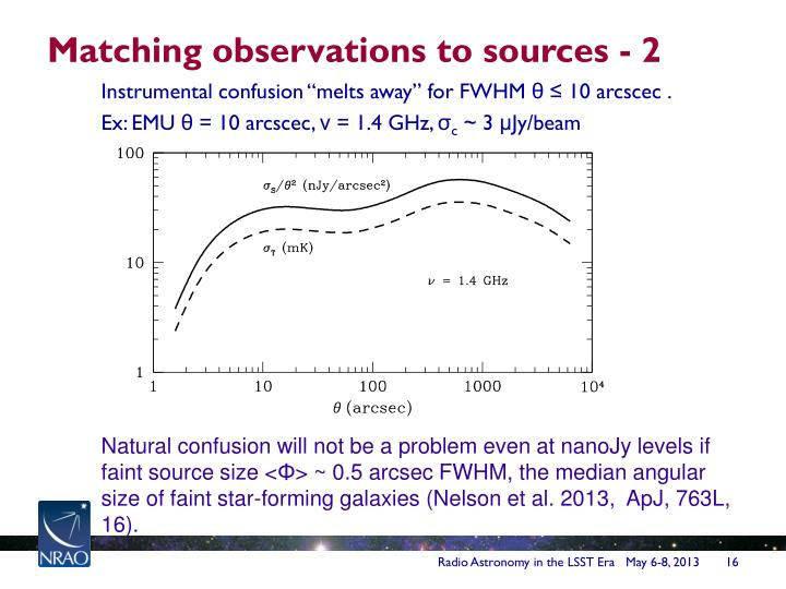 Matching observations to sources - 2