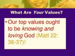 what are your values