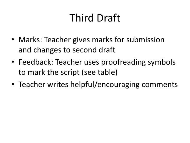 Third Draft