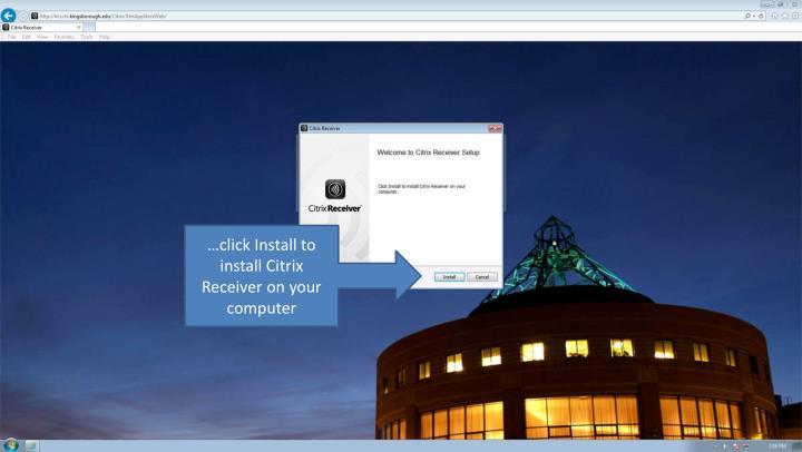 …click Install to install