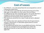 cost of leases1