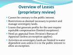 overview of leases proprietary review