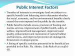 public interest factors