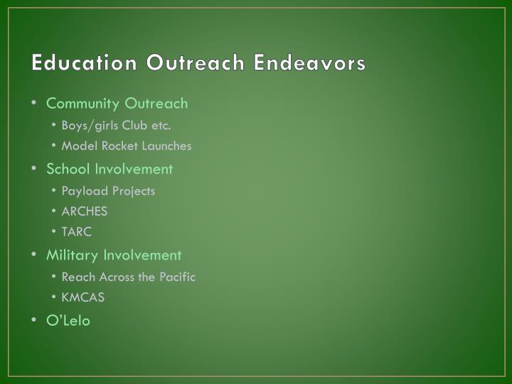 Education Outreach Endeavors