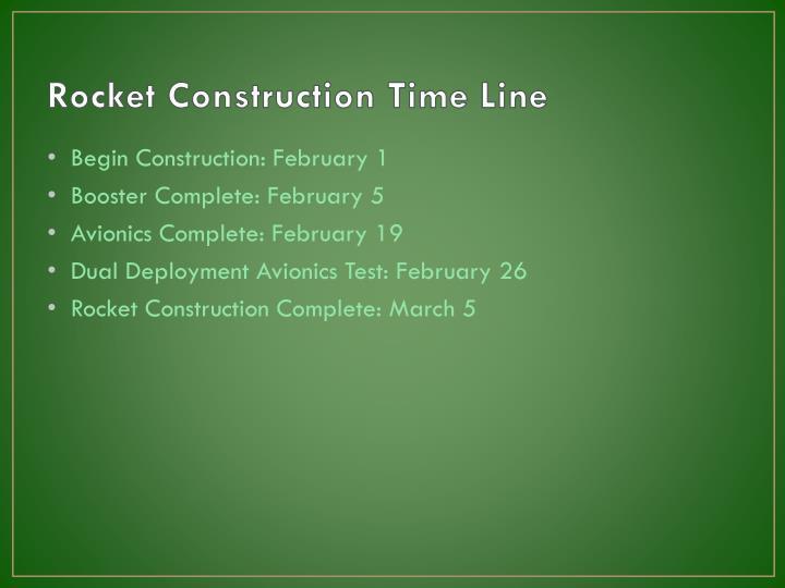 Rocket Construction Time Line