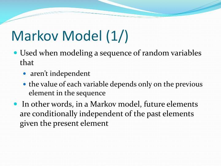Markov model 1