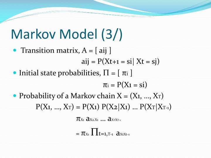 Markov Model (3/)