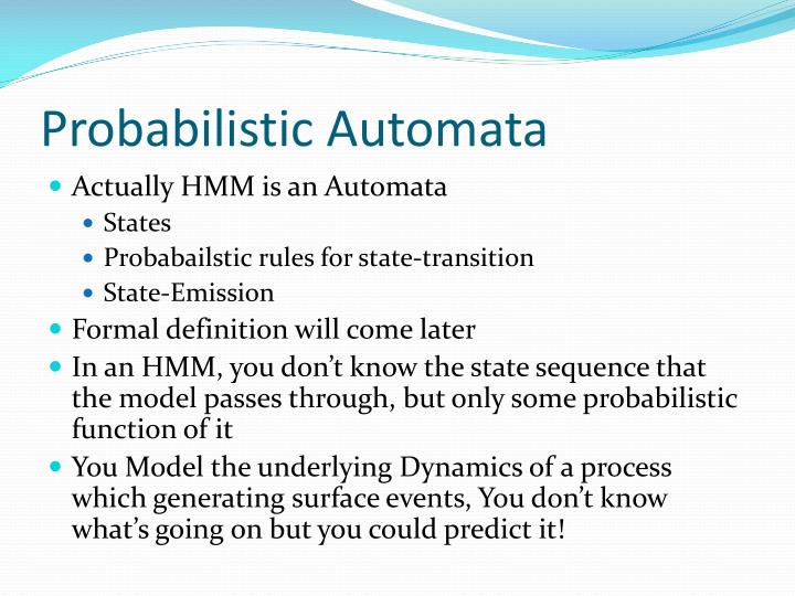 Probabilistic automata