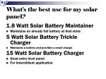 what s the best use for my solar panel