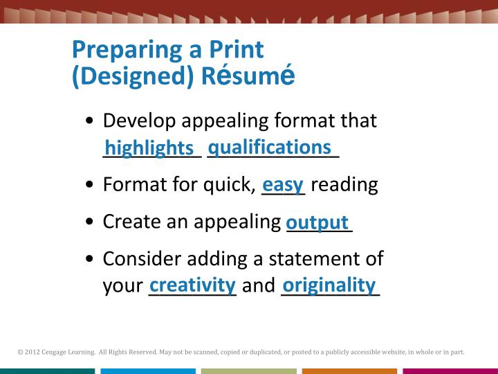 Preparing a Print