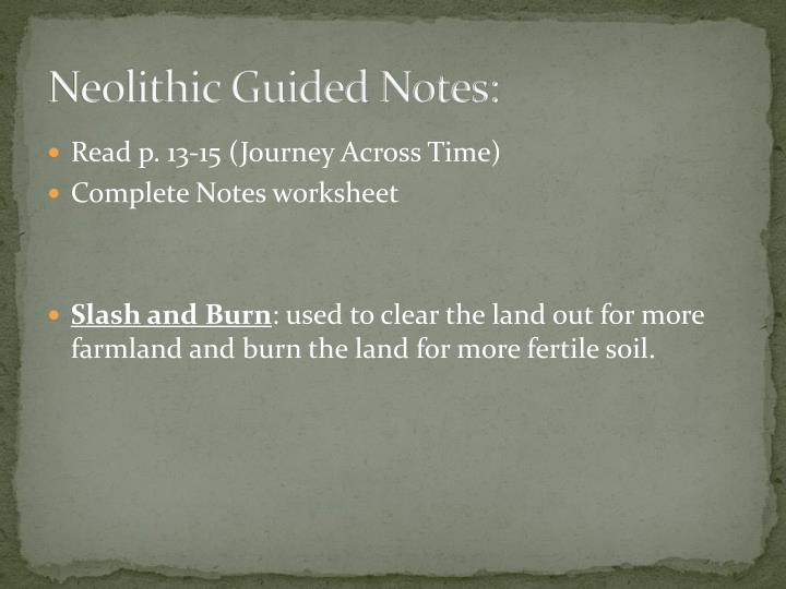 Neolithic Guided Notes: