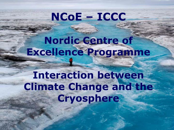 NCoE – ICCC