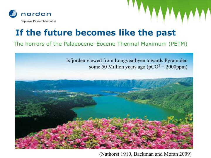 If the future becomes like the past