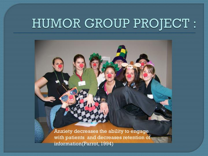 HUMOR GROUP PROJECT :