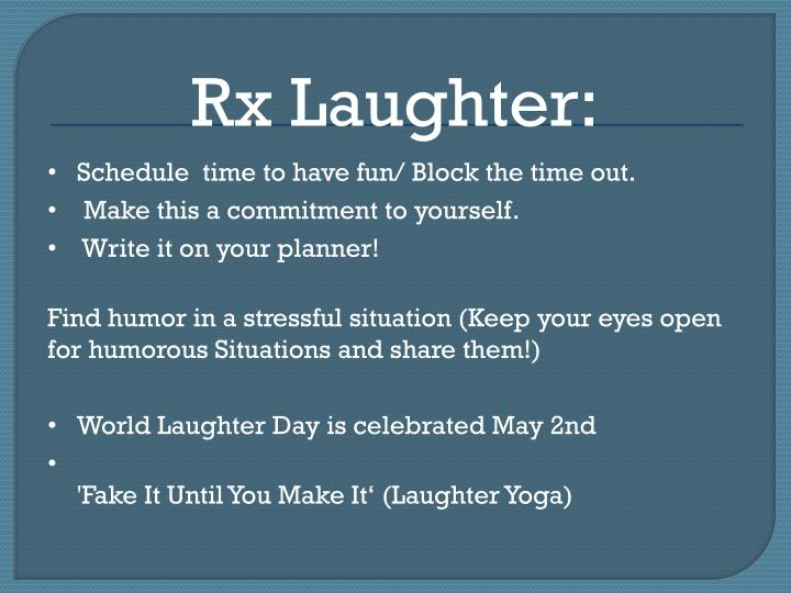 Rx Laughter: