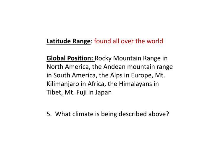 Latitude Range
