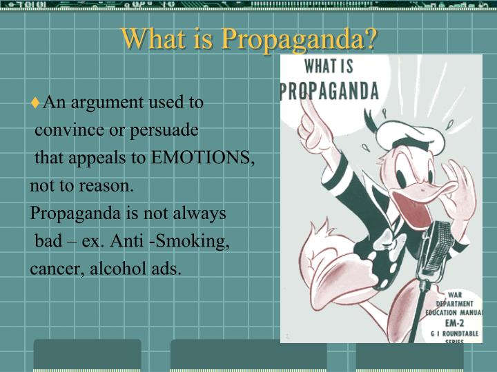 what is propaganda n.