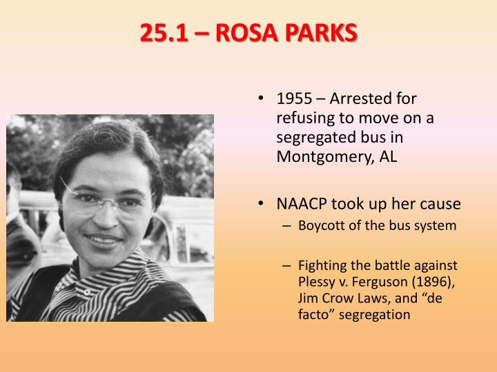 25.1 – ROSA PARKS
