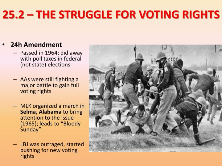 25.2 – THE STRUGGLE FOR VOTING RIGHTS