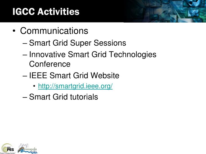 IGCC Activities
