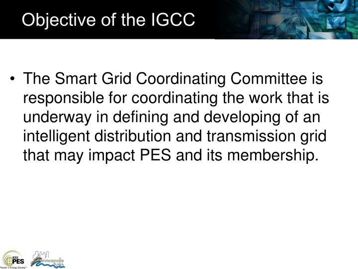 Objective of the igcc