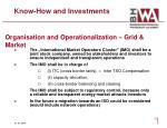 know how and investments1
