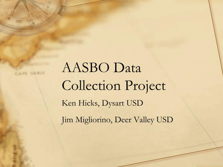 aasbo data collection project n.