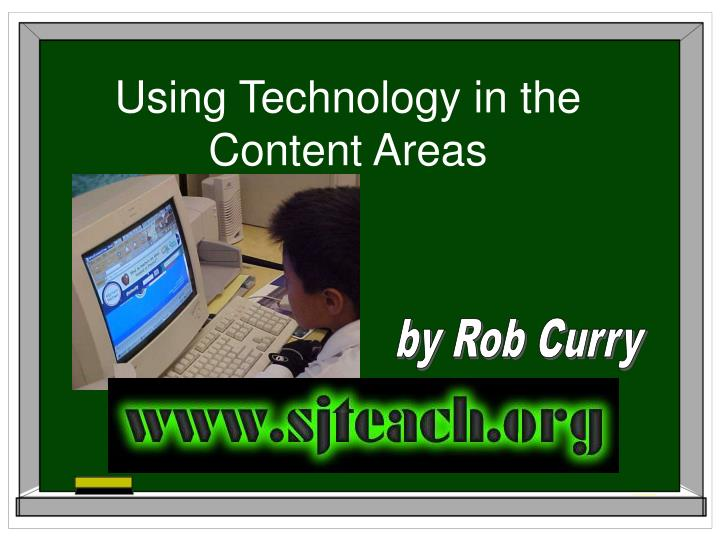 using technology in the content areas n.