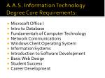 a a s information technology degree core requirements